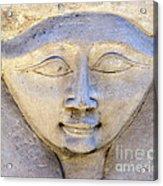 Dendara Carving 2 - Hathor Acrylic Print by Brian Raggatt