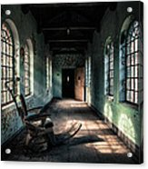 Dentists Chair In The Corridor Acrylic Print by Gary Heller