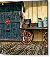 Depot Wagon Acrylic Print by Kenny Francis