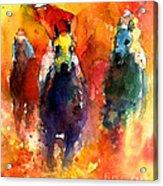Derby Horse Race Racing Acrylic Print by Svetlana Novikova