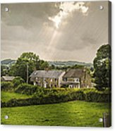Derbyshire Cottages Acrylic Print by Amanda And Christopher Elwell