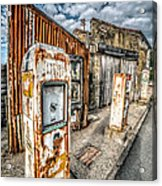 Derelict Gas Station Acrylic Print by Adrian Evans