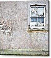 Derelict Window Acrylic Print by Tom Gowanlock