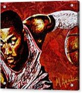Derrick Rose Acrylic Print by Maria Arango