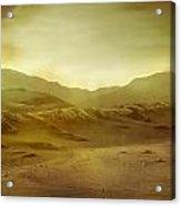Desert Acrylic Print by Brett Pfister