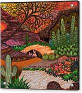 Desert Evening Acrylic Print by Vivian Rayford