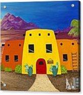 Desert Oasis Acrylic Print by Carol Sabo