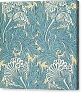 Design In Turquoise Acrylic Print by William Morris