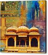 Detail Of Mohatta Palace Acrylic Print by Catf