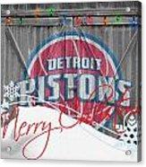 Detroit Pistons Acrylic Print by Joe Hamilton