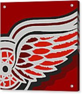 Detroit Red Wings Acrylic Print by Tony Rubino