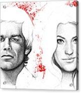 Dexter And Debra Morgan Acrylic Print by Olga Shvartsur
