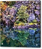 Diablo Lake Reflection Acrylic Print by Benjamin Yeager