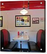 Diner Booth Acrylic Print by Randall Weidner