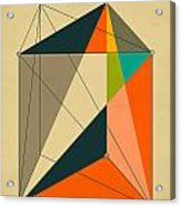 Dissection Of The Triangular Prism Into 3 Pyramids Of Equal Volume Acrylic Print by Jazzberry Blue