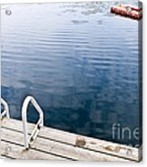 Dock On Calm Summer Lake Acrylic Print by Elena Elisseeva