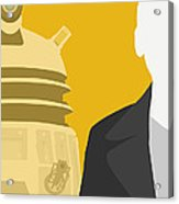Doctor Who 50th Anniversary Poster Set Nineth Doctor Acrylic Print by Jeff Bell