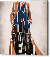 Doctor Who Inspired Tenth Doctor's Typographic Artwork Acrylic Print by Ayse Deniz