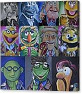 Doctor Who Muppet Mash-up Acrylic Print by Lisa Leeman