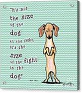 Dogitude Acrylic Print by Kim Niles