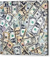 Dollar Background Acrylic Print by Olivier Le Queinec
