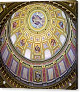 Dome Interior Of The St Stephen Basilica In Budapest Acrylic Print by Artur Bogacki