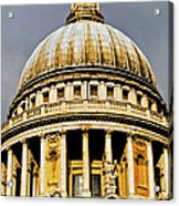 Dome Of St. Paul's Cathedral Acrylic Print by Christi Kraft