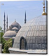 Domes Of Istanbul Acrylic Print by Lutz Baar