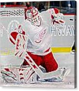 Dominic Hasek Acrylic Print by Don Olea