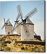 Don Quixote's Windmills Acrylic Print by Tetyana Kokhanets