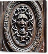 Door In Paris Medusa Acrylic Print by A Morddel