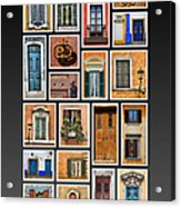 Doors And Windows Of Europe Acrylic Print by David Letts