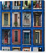 Doors Of New Orleans Acrylic Print by Heidi Hermes