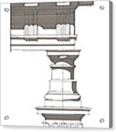 Doric Order Acrylic Print by Calvin Durham