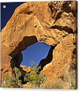 Double Arch - Backside Acrylic Print by Mike McGlothlen