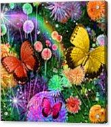 Double Dahlia Flower Party Acrylic Print by Alixandra Mullins