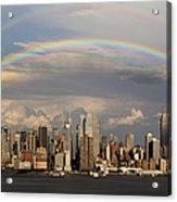Double Rainbow Over Nyc Acrylic Print by Susan Candelario