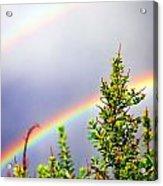 Double Rainbow Sky Acrylic Print by Destiny  Storm