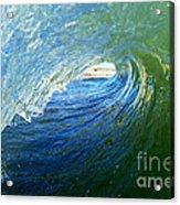 Down The Tube Acrylic Print by Paul Topp