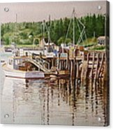 Downeast Reflections Acrylic Print by Karol Wyckoff