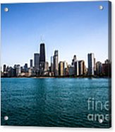 Downtown City Buildings In The Chicago Skyline Acrylic Print by Paul Velgos