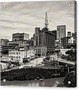 Downtown Houston From Uh-d Acrylic Print by Silvio Ligutti