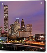 Downtown Houston Texas Skyline Beating Heart Of A Bustling City Acrylic Print by Silvio Ligutti