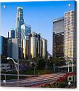 Downtown L.a. Acrylic Print by Inge Johnsson