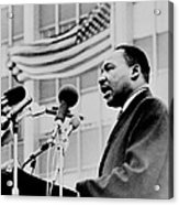 Dr Martin Luther King Jr Acrylic Print by Benjamin Yeager