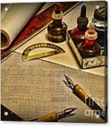 Draftsman - The Ship Builder  Acrylic Print by Paul Ward