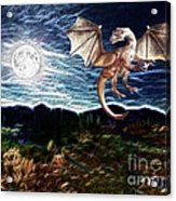 Dragon Night Acrylic Print by Methune Hively