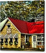 Drake's Inn On Seventh Lake Acrylic Print by David Patterson