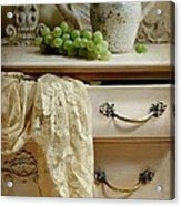 Drawer Of Lace Acrylic Print by Diana Angstadt
