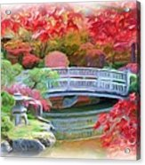 Dreaming Of Fall Bridge In Manito Park Acrylic Print by Carol Groenen